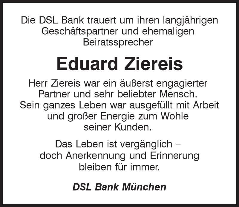Traueranzeige für Eduard Ziereis vom 05.12.2020 aus Mittelbayerische Zeitung Kelheim