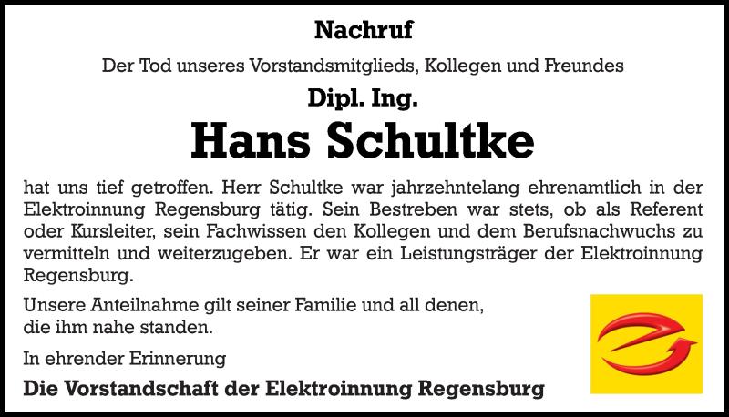 Traueranzeige für Hans Schultke vom 01.08.2020 aus Mittelbayerische Zeitung Gesamtausgabe