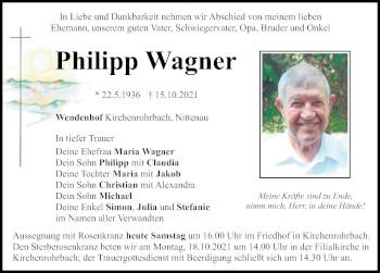 Traueranzeige von Philipp Wagner von Bayerwald Echo