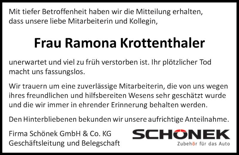 Traueranzeige für Ramona Krottenthaler vom 16.09.2021 aus Mittelbayerische Zeitung Schwandorf